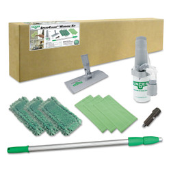 "Unger Indoor Window Cleaning Kit, Aluminum, 72"" Extension Pole With 8"" Pad Holder, CK053"