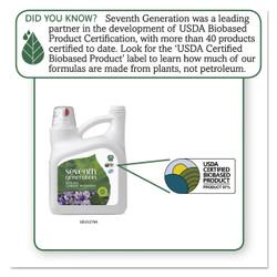 Seventh Generation Natural Liquid Laundry Detergent, Lavender/Blue Eucalyptus, 99 loads,150 oz, 22794CT