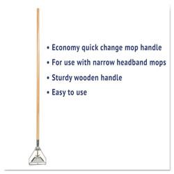 Quick change metal head mop handle.