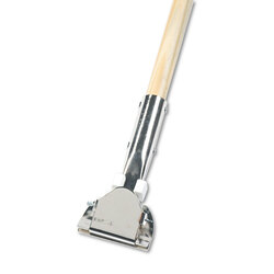 "Boardwalk Clip-On Dust Mop Handle, Lacquered Wood, Swivel Head, 1"" Dia. x 60in Long, 1490"