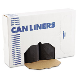 Coreless rolls of low-density repro can liners.