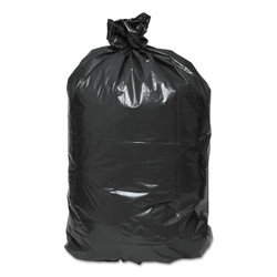 Earthsense Commercial Recycled Can Liners, 33 gallon, 1.25mil, 33 x 39, Black, RNW4050 (100 liners/case)