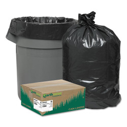 Earthsense Commercial Recycled Can Liners, 40-45 gallon, 1.25mil, 40 x 46, Black, RNW4850 (100 liners/case)