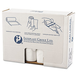 Value pack of high-density commercial can liners with star-sealed bottom.