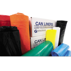 Inteplast Group High-Density Can Liner, 43 x 46, 56 gallonlon, 11 mic, Clear, VALH4348N12 (25 liners/roll)