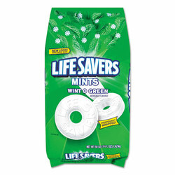 Lifesavers Hard Candy, Wint-O-Green, 50oz Bag (LFS21524)