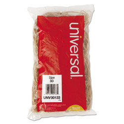 Universal Office Products Rubber Bands, Size 33, 3-1/2 x 1/8, 640 Bands/1lb Pack