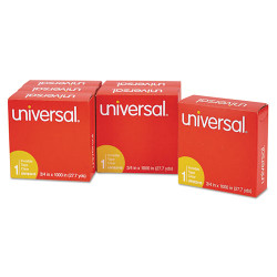 "Universal Office Products Invisible Tape, 3/4"" x 1000"", 1"" Core, Clear, 6/Pack"