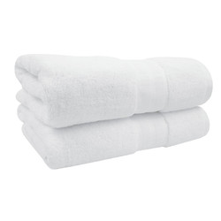 24x48 Bath Towel, White, Durability Series, 8 lbs/dz