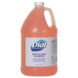 Dial Body and Hair Care, 1gal Bottle, Gender-Neutral Peach Scent, 4/Carton (DIA03986)