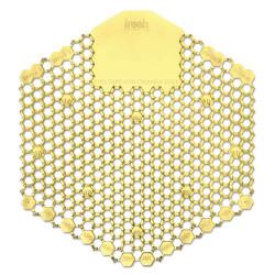 Fresh Products Wave 3D Urinal Deodorizer Screen, Yellow, Citrus, 10/Box