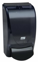 Deb Re-Style Curve Foam Soap Dispenser, 1 Liter, Transparent Black