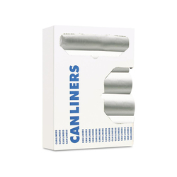 Boardwalk High-Density Can Liner, 12-16gal, 24 x 33, 6mic, Natural, 50 Bag/Roll, 20 RL/CT (BWK243306)