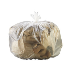 Gen High-Density Can Liner, 33 x 39, 33gal, 13mic, Natural, 25 Bags/RL, 10 Rolls/CT