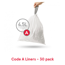Simplehuman Custom Fit Trash Can Liners, Code A - 30 Pack