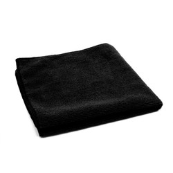16x16 Microfiber Towels, Black