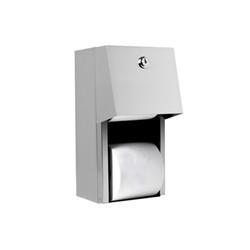 A&J Washroom Dual Toilet Paper Dispenser, Enclosed