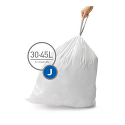 Simplehuman Trash Can Liner, Code J (60 liners/Case)
