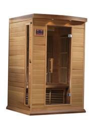 Golden Designs Canadian Red Cedar Low EMF FAR Infrared Sauna, MX-K206-01-RC