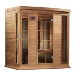 Golden Designs Canadian Red Cedar Low EMF FAR Infrared Sauna, MX-K406-01-RC