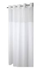 "Hookless Madison Shower Curtain, White, 71"" x 80"""