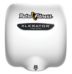 XLERATOR Hand Dryer, Retro Fitness on White