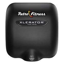 XLERATOR Hand Dryer, Retro Fitness Custom Cover on Black (XL-SI-B-Retro)