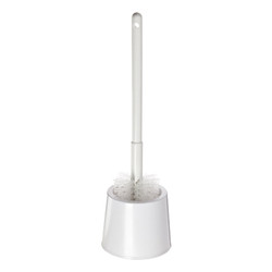 Deluxe Scratchless Toilet Bowl Brush & Caddy, White, 333