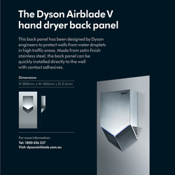 Dyson Back Panel for Airblade V, Sprayed Nickel (964691-01)