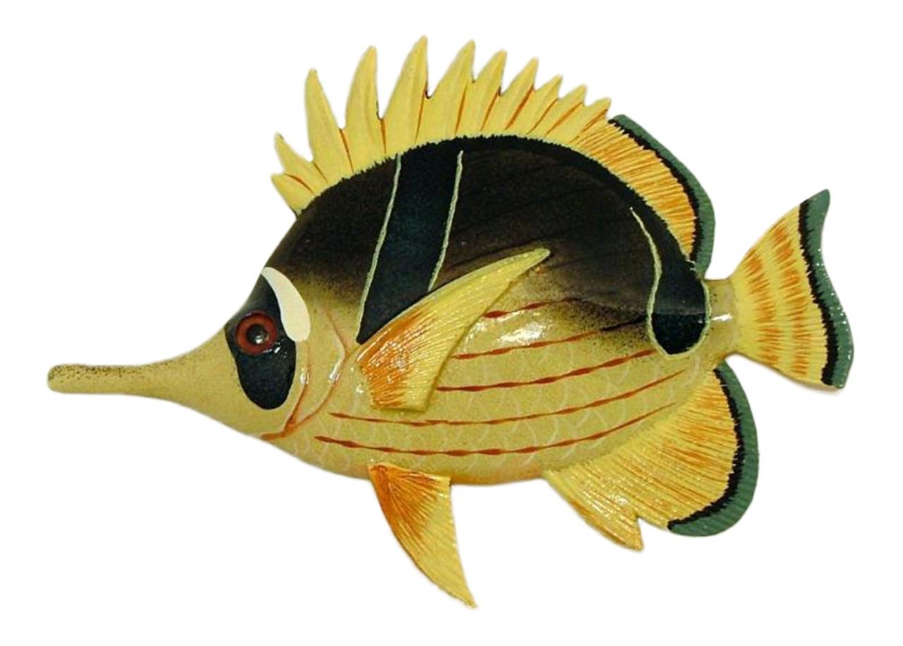 Needle Nose Tropical Angel Fish Tiki Sea Life Bath Wall Decor 6 Inch ...