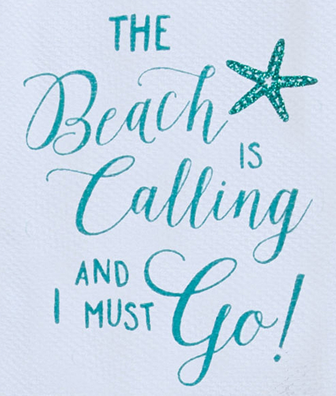 The Beach is Calling and I Must Go Sparkle Glitter Kitchen Flour ...