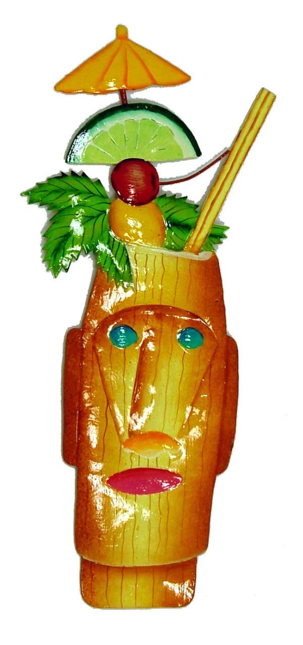 Tropical Zombie Drink Tiki Bar Deco Haitian Metal Art - Mary B ...