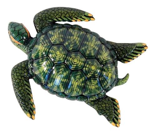 15 Inch Tropical Green Sea Turtle Beach Tiki Bath Kids Wall Decor
