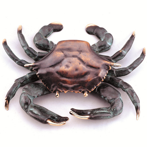 Antiqued Finish Solid Brass Blue Crab Beach Front Door Knocker SPI Home
