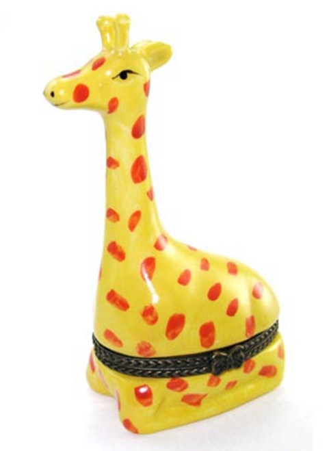 African Giraffe Safari  Zoo Hinged Trinket Box phb