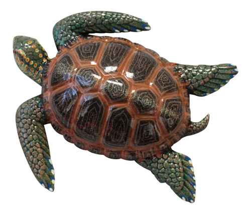 15 Inch Tropical Sea Turtle Plaque Nursery Bath Wall Decor 15STW07