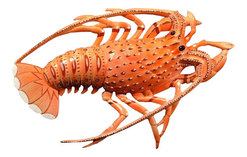 10 Inch Florida Lobster Beach Tiki Bath Kid Wall Decor Plaque Salmon Color