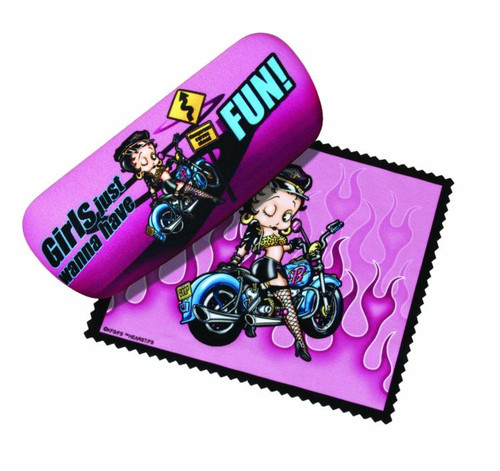 Betty Boop Biker Eye Reading Glasses Case and Lens Cloth