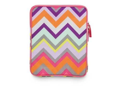 Bold Pink Purple Orange Chevron Stripe Tech Tablet or eReader Soft Case