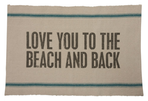 Beach and Back Lifes at Ease Reversible Accent Throw Rug Cotton 36 Inches