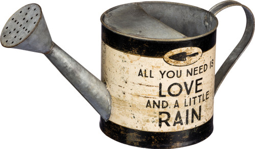 All You Need is Love And a Little Rain Tin Gardening Watering Can