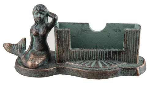 Mermaid bronzed verdi business card holder cast iron mary b mermaid bronzed verdi business card holder cast iron mary b decorative art colourmoves