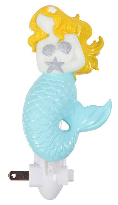 Blonde Mermaid Coastal 7 Watt Night Light