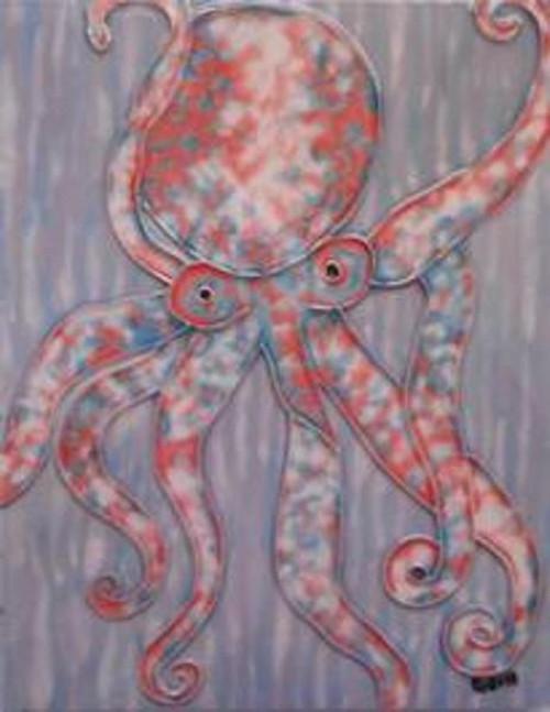 Artistic Octopus 8X10 Inch Ceramic Tile