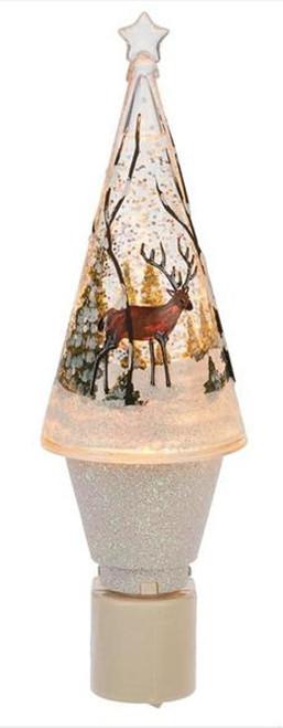 Deer in Woods Rustic Shimmer Night Light Electric