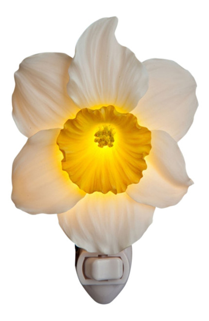 Daffodil Spring Beauty Night Light Bonded Marble Electric