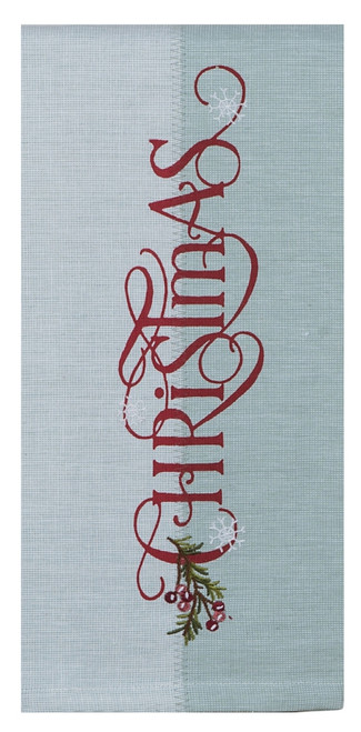 A Christmas Weekend Red and Green Kitchen Dish Tea Towel
