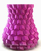 Curved honeycomb vase, by eggnot Printed by: Duncan H. Printed in SnoLabs Purple PLA (1.75 mm)