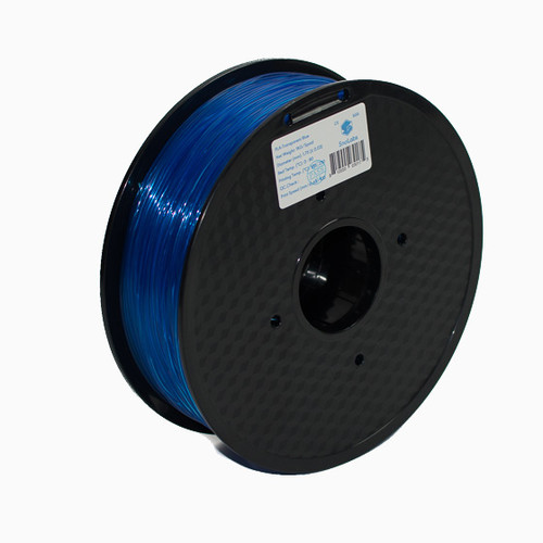 A 1KG spool of SnoLabs Transparent Blue PLA (1.75mm)