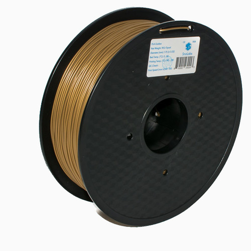 A 1KG spool of SnoLabs Golden PLA (1.75mm)